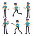 officer policeman cartoon characters vector image vector image