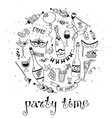 Party time poster vector image vector image