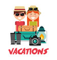 people vacations equipment travel vector image