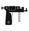 piercing gun icon simple vector image