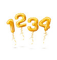 realistic 1 2 3 balloon number for a party vector image vector image