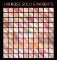 rose gold gradients collection for design vector image vector image