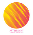 round shape art and design element of beautiful vector image vector image