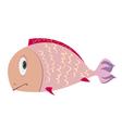 sad fish vector image vector image