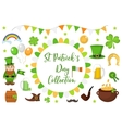 St Patricks Day icon set design element vector image vector image