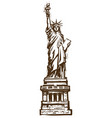 statue of liberty engraving style sketch vector image