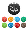steak icons set color vector image vector image