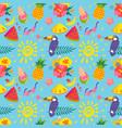 summer seamless pattern pineapple ice cream vector image