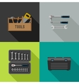 Tools flat icons vector image vector image