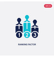 two color ranking factor icon from business vector image vector image