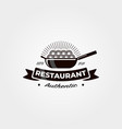 vintage noodle restaurant logo symbol design vector image vector image