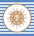 vintage sun vector image
