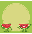 Watermelon Character Notes Green vector image vector image