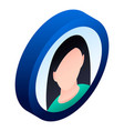 woman avatar icon isometric style vector image vector image