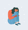 woman suffering from depression vector image