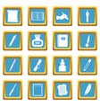 writing icons azure vector image vector image