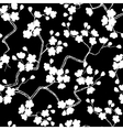 Cherry blossoms seamless pattern vector image