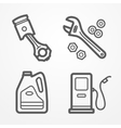 Motorcycle service icons vector image