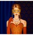 Venetian beauty in a mask vector image