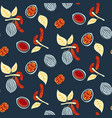 blue and red stylized walnut seamless vector image