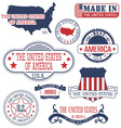 United States Set of generic stamps and signs vector image