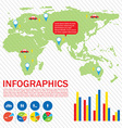 A graphical interface of a map vector image vector image