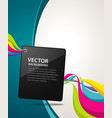 Abstract artistic colorful ribbon background vector | Price: 1 Credit (USD $1)