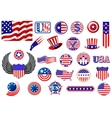 American patriotic badges symbols and labels