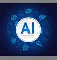 artificial intelligence concept banner card vector image vector image