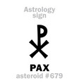 astrology asteroid pax vector image vector image