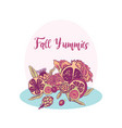 autumn fruit with flowers vector image vector image