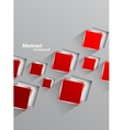 Background with red squares vector image vector image