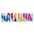 Balloon sign vector image vector image