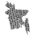 bangladesh map composition of binary digits vector image