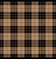 beige tartan plaid seamless pattern vector image vector image