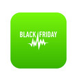 black friday pulse icon simple style vector image vector image
