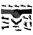 Black Set of Hand vector image vector image