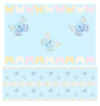 Blue butterflies seamless pattern vector image vector image