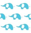 Blue Elephant Seamless pattern vector image