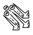 business decrease hand drawn icon design outline vector image
