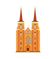 cathedral diocese of zeeland medieval cathedral vector image vector image