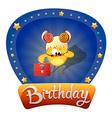 Chicken Aries birthday vector image