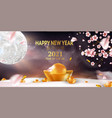 chinese new 2021 bull asian background design vector image vector image