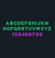 colorful of stylized modern font and alphabet vector image vector image