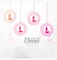 creative diwali festival greeting card design vector image vector image