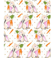 cute easter bunny pattern background vector image