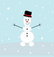 cute snowman icon greeting card design element vector image vector image