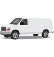 Delivery van isolated on white vector image vector image