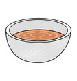 dish with soup icon vector image vector image