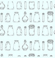 empty bottles in a row seamless pattern vector image vector image